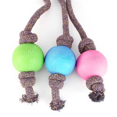 BECOBALL WITH ROPE LARGE 50 CM PINK