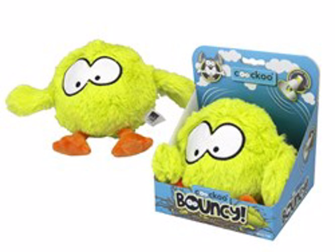 COOCKOO BOUNCE JUMPING BALL 28X19CM LIME